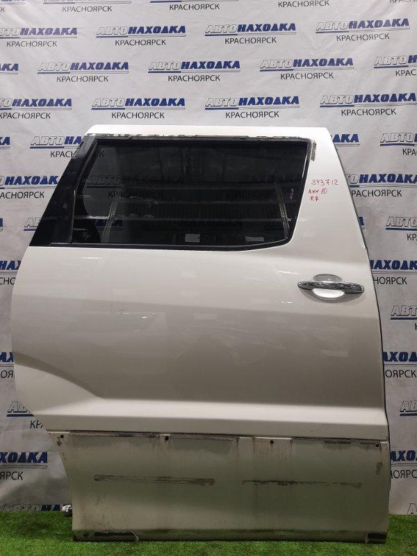 Дверь Toyota Alphard ANH10W 2AZ-FE 2002 задняя правая Задняя правая, без накладки, цвет 042. Есть