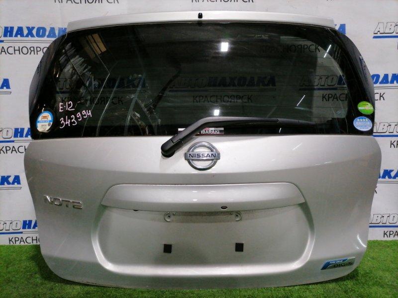 Дверь задняя Nissan Note E12 HR12DE 2012 задняя В сборе, с камерой заднего вида, в ХТС