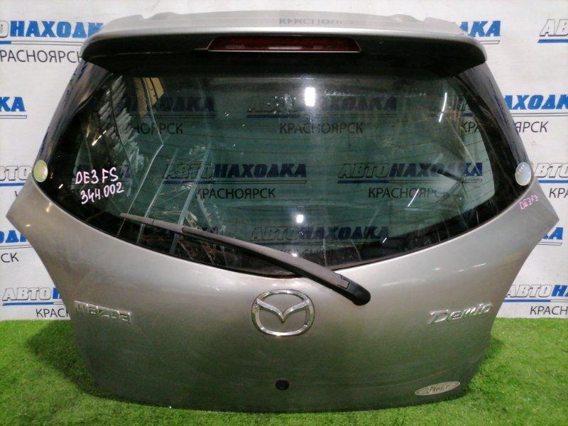 Дверь задняя Mazda Demio DE3FS ZJ-VE 2007 задняя В сборе, с кнопкой открывания двери, спойлер, в