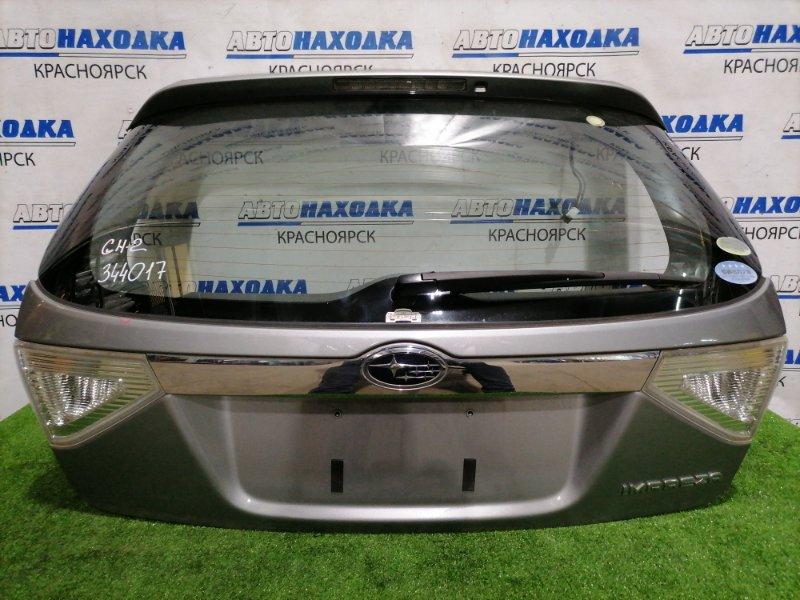 Дверь задняя Subaru Impreza GH2 EL15 2007 задняя В сборе, цвет: C6Z, с фонарями (132-20024), есть дефет