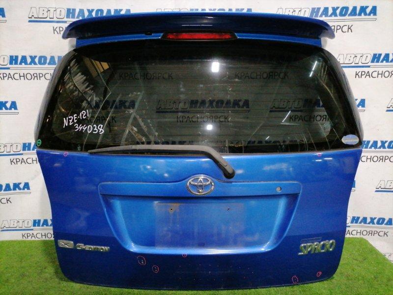 Дверь задняя Toyota Corolla Spacio NZE121N 1NZ-FE 2001 задняя В сборе, с личинкой замка, есть дефект