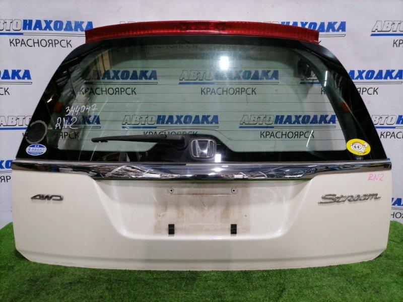Дверь задняя Honda Stream RN2 D`17A 2000 задняя В сборе, дорестайлинг, есть дефект краски в