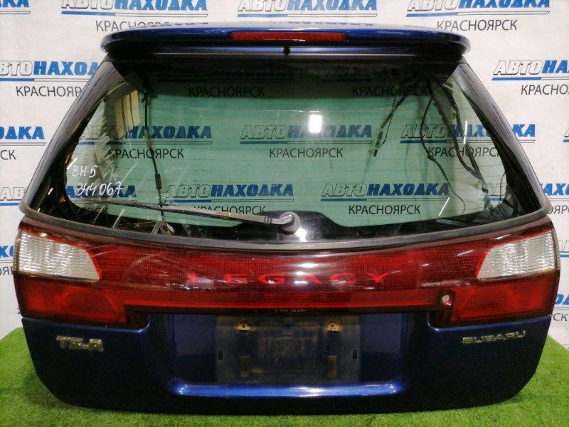 Дверь задняя Subaru Legacy BH5 EJ20 2001 задняя Без обшивки, вставка (4835), спойлер, дефект лкп на