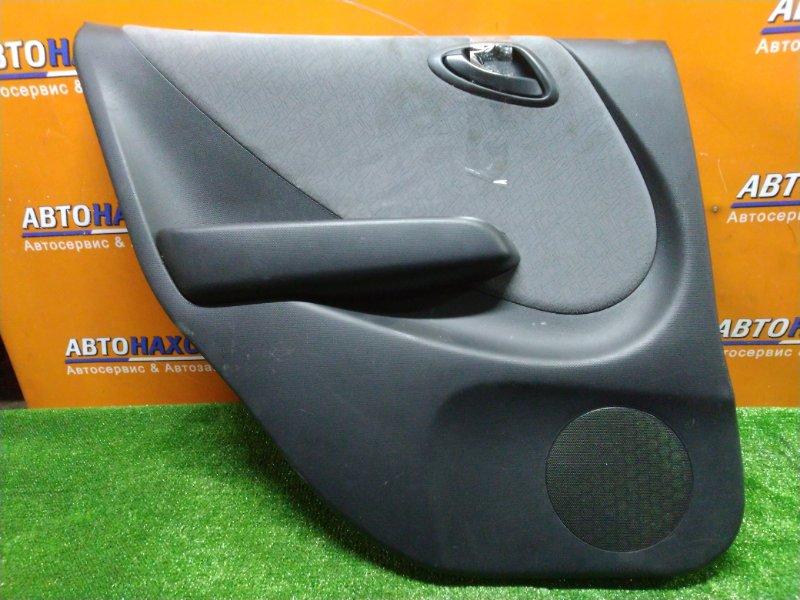 Обшивка двери Honda Fit GD1 L13A задняя левая + РУЧКА, +НОПКА