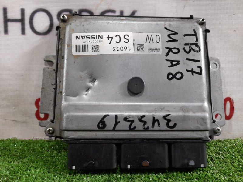 Компьютер Nissan Sylphy TB17 MRA8DE 2012 NEC001-671 блок управления ДВС