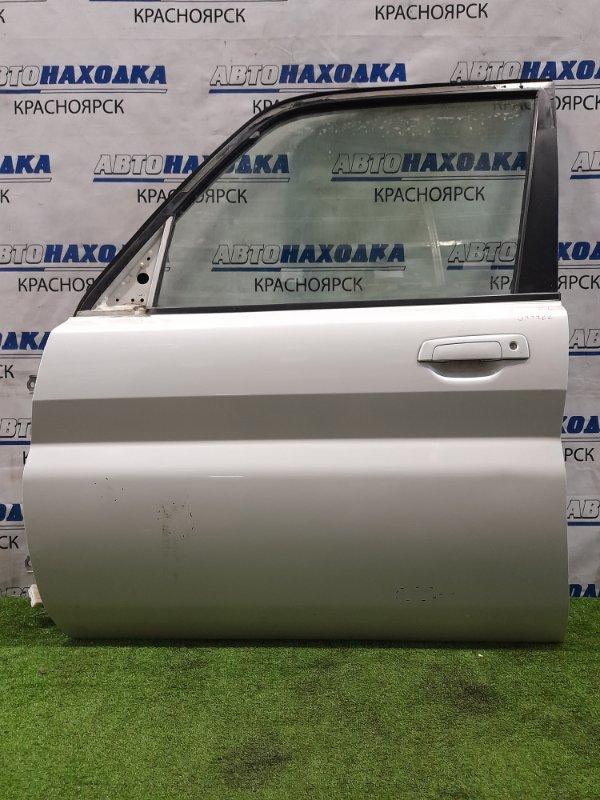 Дверь Mitsubishi Pajero Io H76W 4G93 1998 передняя левая передняя левая, в сборе, цвет W23. Есть вмятина,