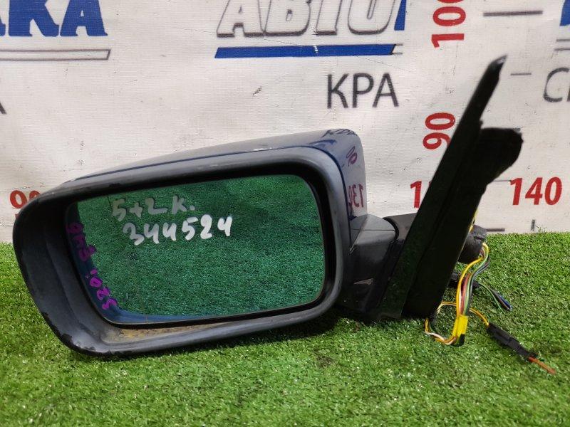 Зеркало Bmw 318I E46 M43 B19 1998 левое Левое, синее, фишки 5+2 контактов, зеркальный элемент с