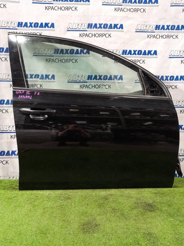 Дверь Volkswagen Golf 5K1 CAXA 2008 передняя правая Передняя правая, в сборе, хэтчбэк, есть сколы,