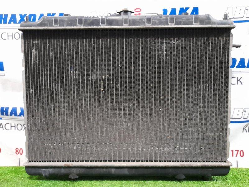 Радиатор двигателя Nissan Presage TU30 QR25DE 2001 В сборе, с трубками охлаждения, диффузором и