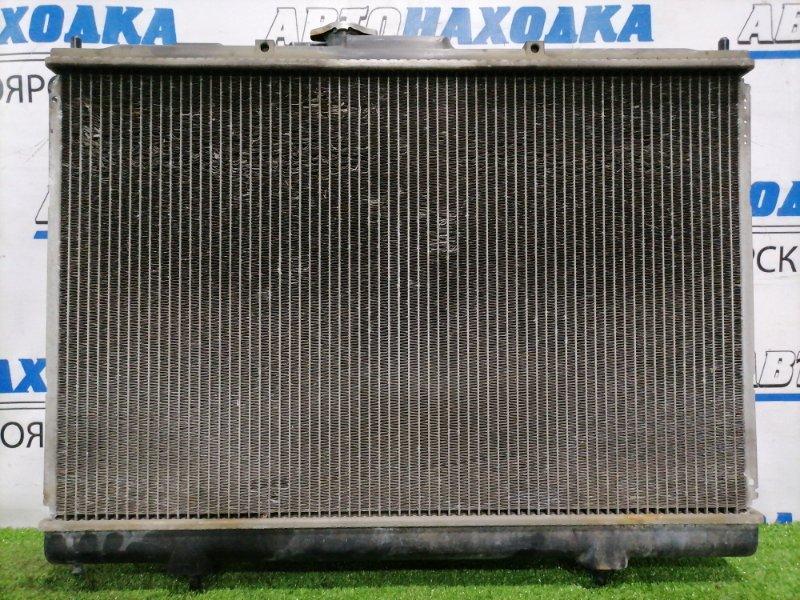 Радиатор двигателя Mitsubishi Pajero Io H76W 4G93 1998 MR597146, 422000-2260 под АКПП, в сборе с диффузорами