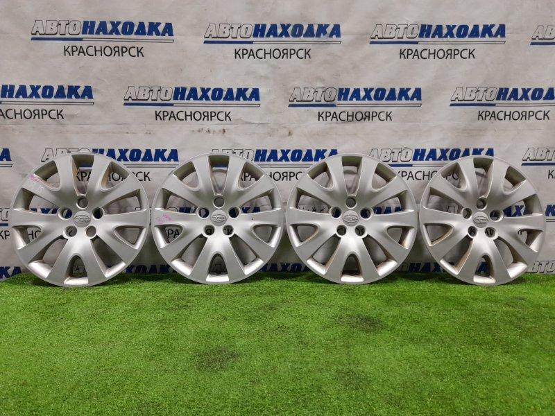 Колпаки колесные Subaru Impreza GH2 EL15 2007 Оригинал, R15, комплект 4 шт, есть потертости,