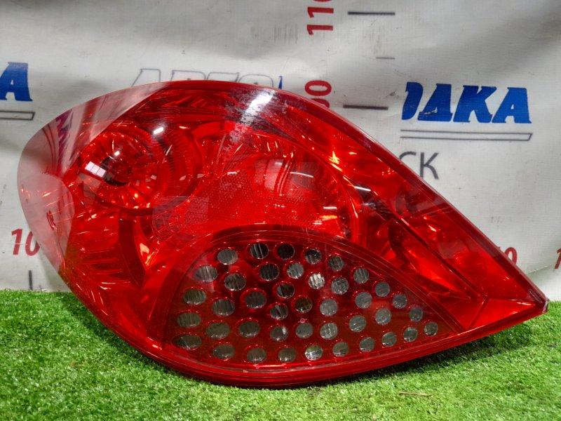 Фонарь задний Peugeot 207 WC EP6 2007 задний левый Левый, 9649986680. Небольшой скол стекла в углу.