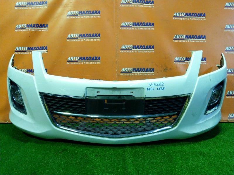 Бампер Mazda Mpv LY3P L3-VE передний ТУМАНКИ 114-41334
