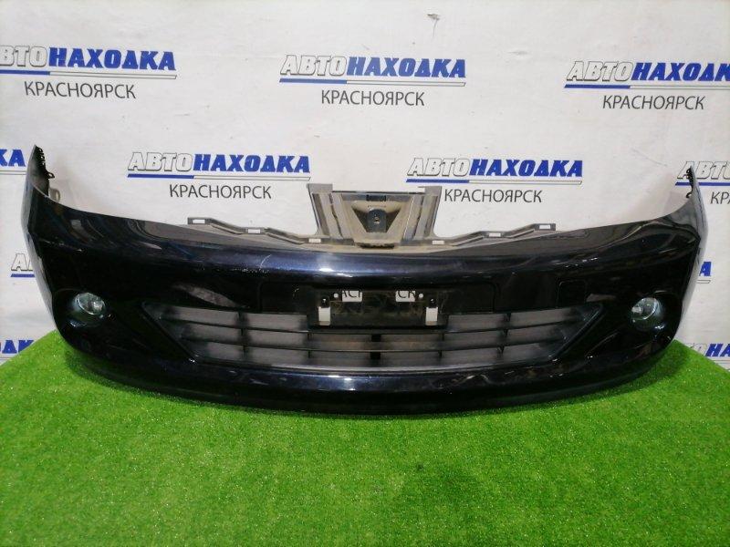 Бампер Nissan Tiida C11 HR15DE 2004 передний передний, рестайлинг, с туманками, цвет B20. Есть