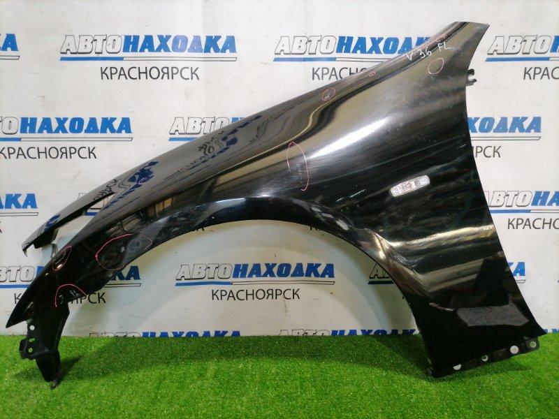 Крыло Nissan Skyline V36 VQ25HR 2010 переднее левое Переднее левое, рестайлинг, с повторителем, есть