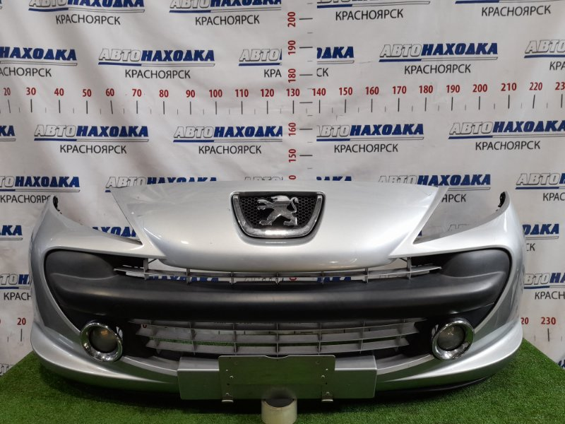 Бампер Peugeot 207 WC EP6 2007 передний Передний, дорестайлинг, с противотуманками, эмблемой.