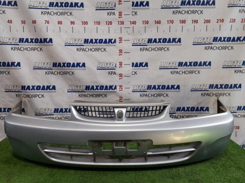 Бампер Toyota Corsa EL51 4E-FE 1997 передний передний, 3-х дверка, рестайлинг, с решеткой. Есть