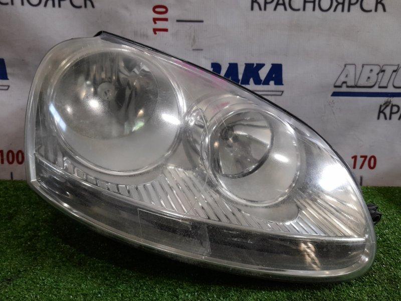 Фара Volkswagen Golf 1K1 2003 передняя правая 1K6941006Q Правая, галоген, с корректором. Дефект ЛКП