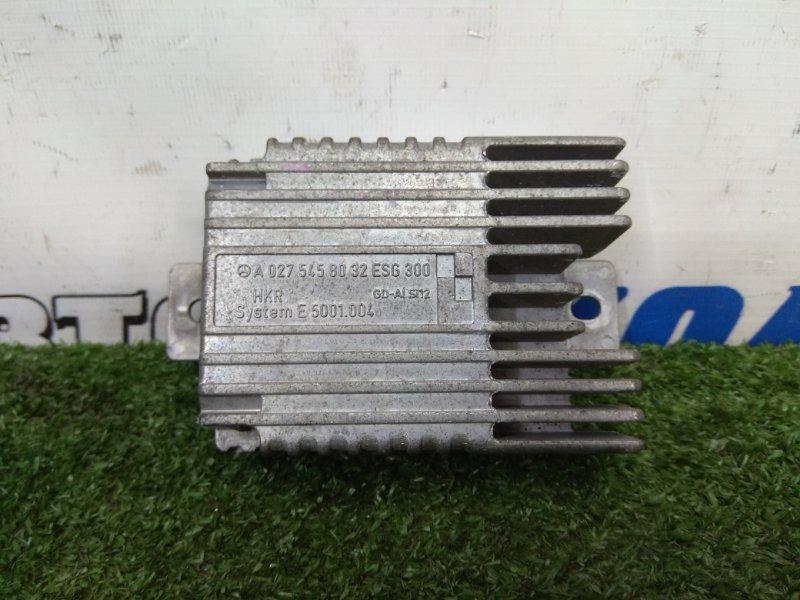 Компьютер Mercedes-Benz A160 W168.033 M166 E16 1997 Блок управления вентилятором радиатора