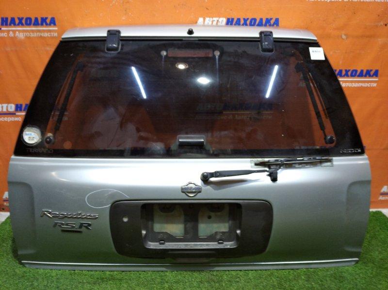 Дверь задняя Nissan Terrano Regulus JTR50 ZD30DDTI 1996 задняя в сборе, есть вмятина, дефект лкп