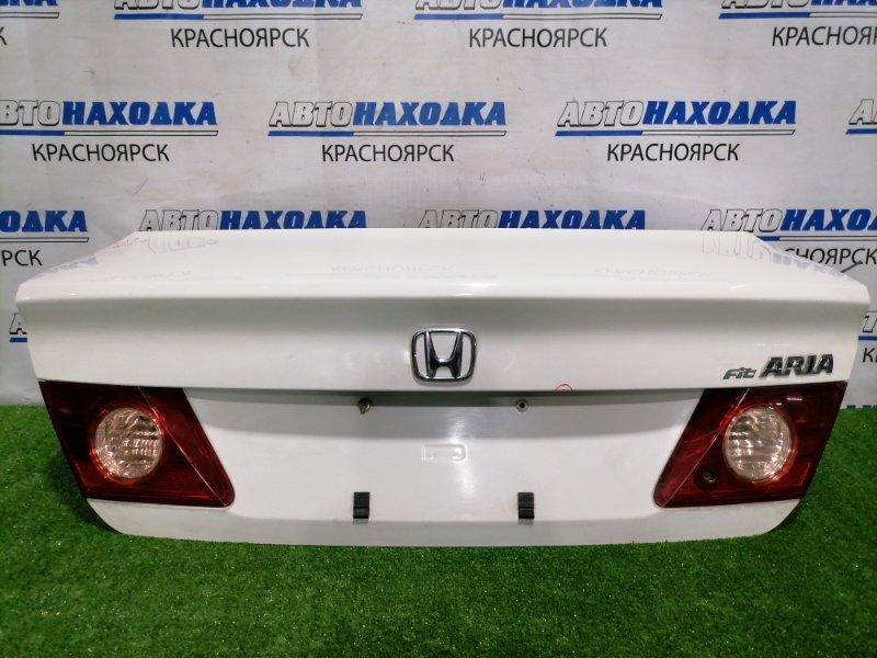 Крышка багажника Honda Fit Aria GD8 L15A 2005 задняя В сборе, с фонарями (P5513), рестайлинг, мелкие