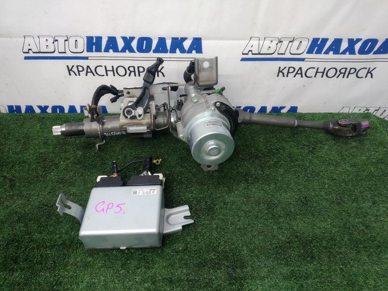 Колонка рулевая Honda Fit GP5 LEB 2013 с ЭУРом + карданчик + блок управления, с регулировкой