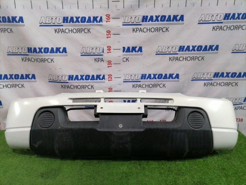 Бампер Suzuki Jimny JB23W K6A 1998 передний передний, есть потертости, трещина, дефект крепления.