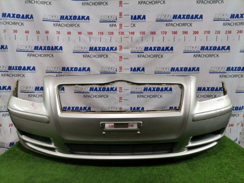 Бампер Toyota Avensis AZT250W 1AZ-FSE 2002 передний передний, дорестайлинг, цвет 1C0, с заглушками.