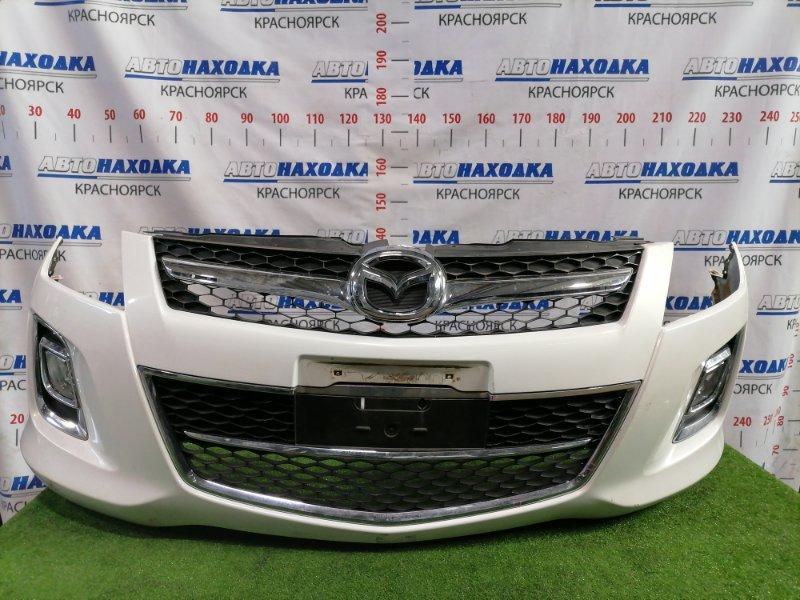 Бампер Mazda Mpv LY3P L3-VE 2008 передний передний, рестайлинг, с туманками, решеткой. Есть