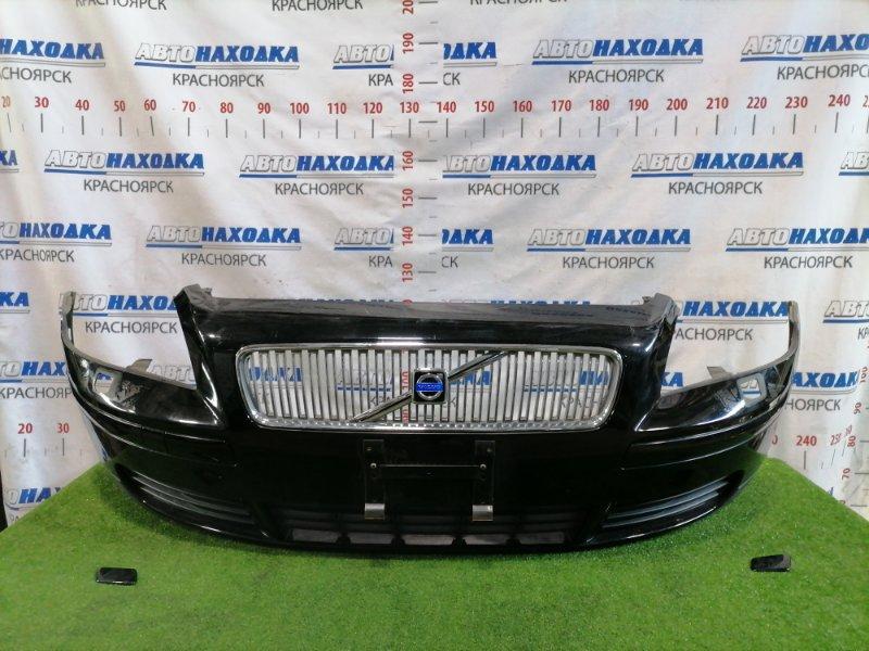 Бампер Volvo V50 MW66 B5244S 2003 передний передний, дорестайлинг, с решеткой, заглушками под