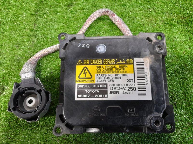 Блок розжига ксенона Toyota Estima ACR50W 2AZ-FE 2006 39000-78277 под лампу D4R / D4S, с проводом на лампу