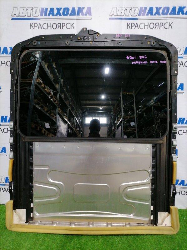 Люк Bmw 320I E46 M54 B22 2001 электрический сдвижной в сборе: размер стекла 795мм*475мм, со