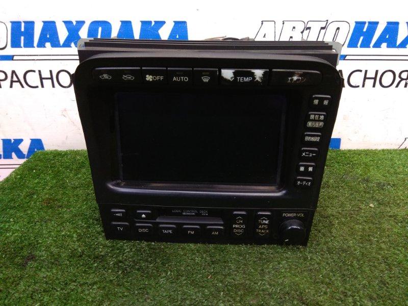 Монитор Toyota Land Cruiser UZJ100W 2UZ-FE 1998 штатный монитор с центральной консоли, с климатом и