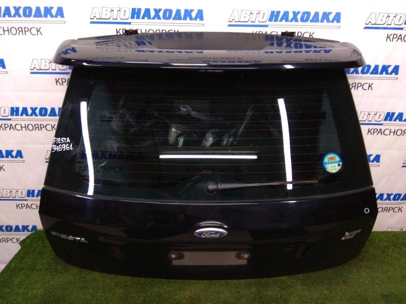 "Дверь задняя Ford Fiesta CBK N4JB 2005 задняя задняя, в сборе, черная, спойлер ""ST"", метла, без"