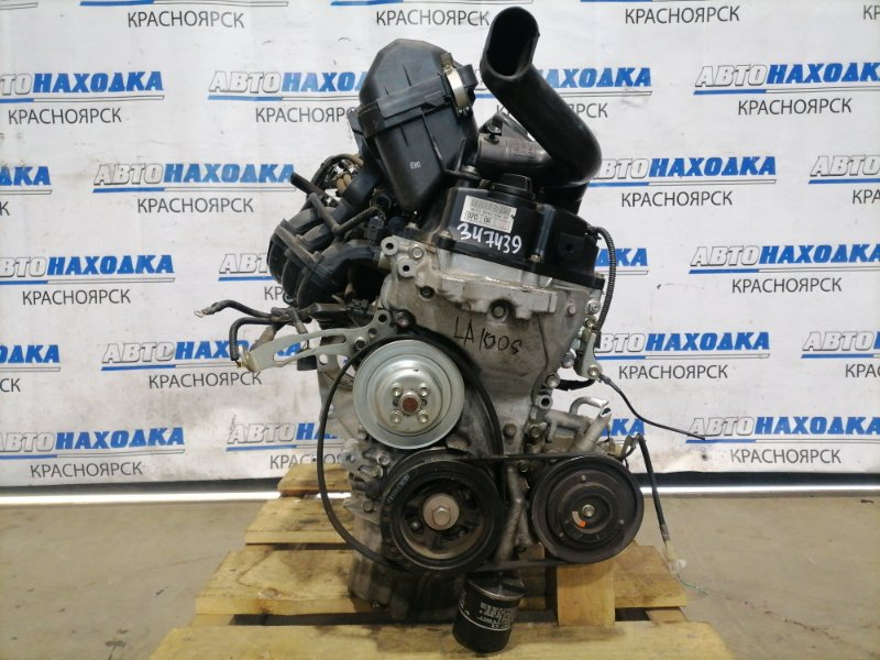 Двигатель Daihatsu Move LA100S KF-VE 2010 546799 KF-VE2 № 546799 пробег 48 т.км. Есть видео работы ДВС. Без
