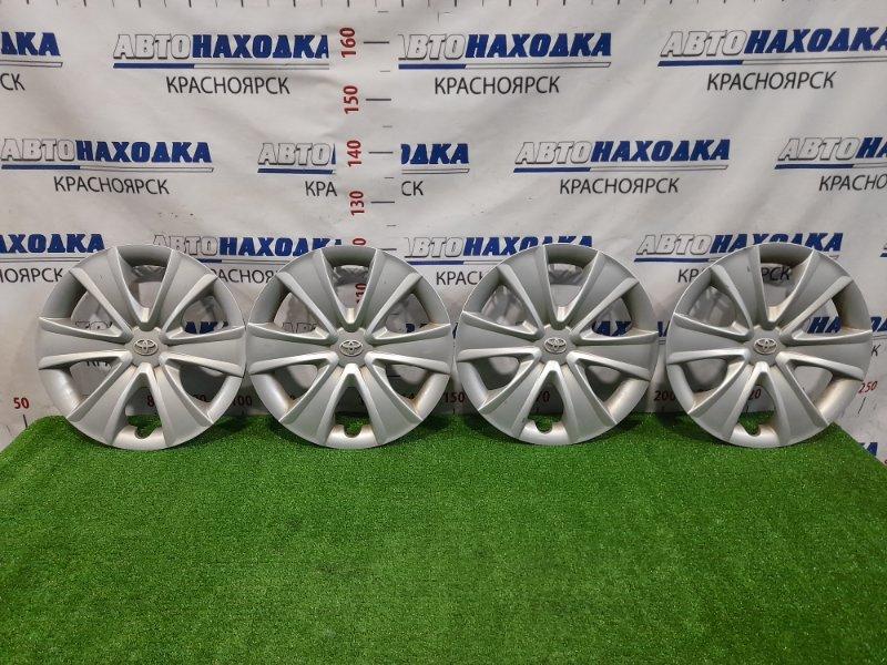 Колпаки колесные Toyota Ractis NCP100 1NZ-FE 2005 R16, есть потертости, комплект 4 шт