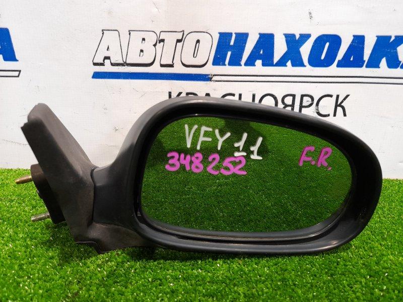 Зеркало Nissan Ad VFY11 QG15DE 1998 переднее правое правое, механическое. Есть потертости