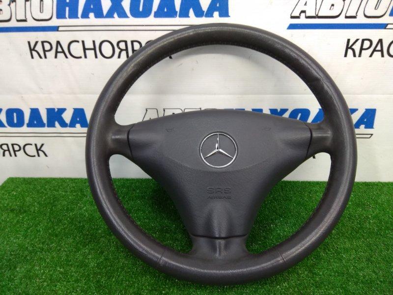 Airbag Mercedes-Benz A160 W168.033 M166 E16 2001 передний правый ХТС, водительский, без заряда, кожа, черный