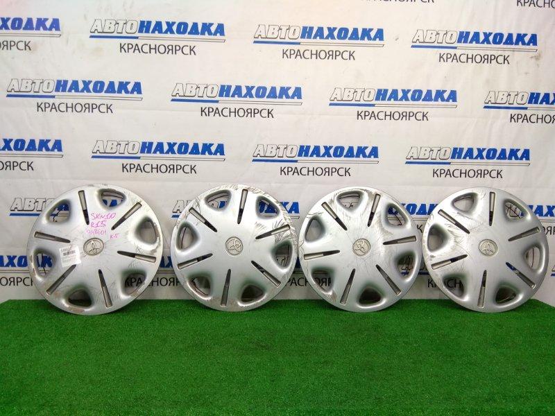Колпаки колесные Toyota Nadia ACN10 1AZ-FSE 2001 Оригинал, R15 комплект 4 шт, есть потертости,
