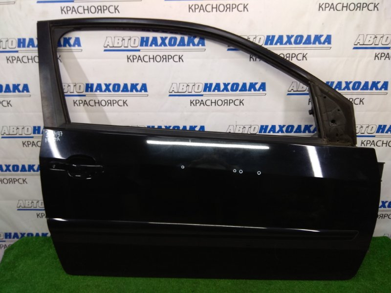Дверь Ford Fiesta CBK N4JB 2005 передняя правая передняя правая, черная, 3-х дверка, с обшивкой