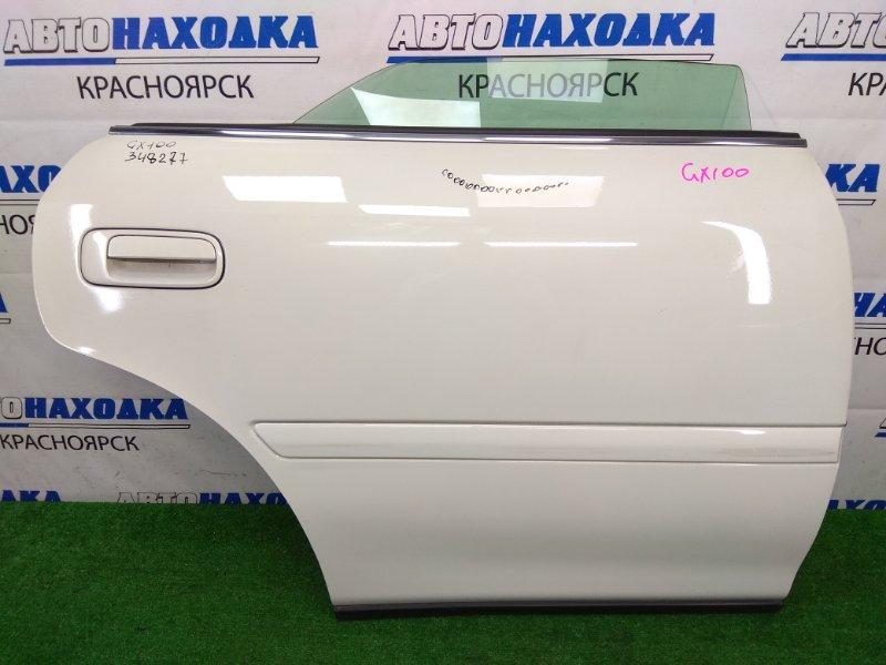 Дверь Toyota Chaser GX100 1G-FE 1996 задняя правая задняя правая, белый перламутр (057), без обшивки,
