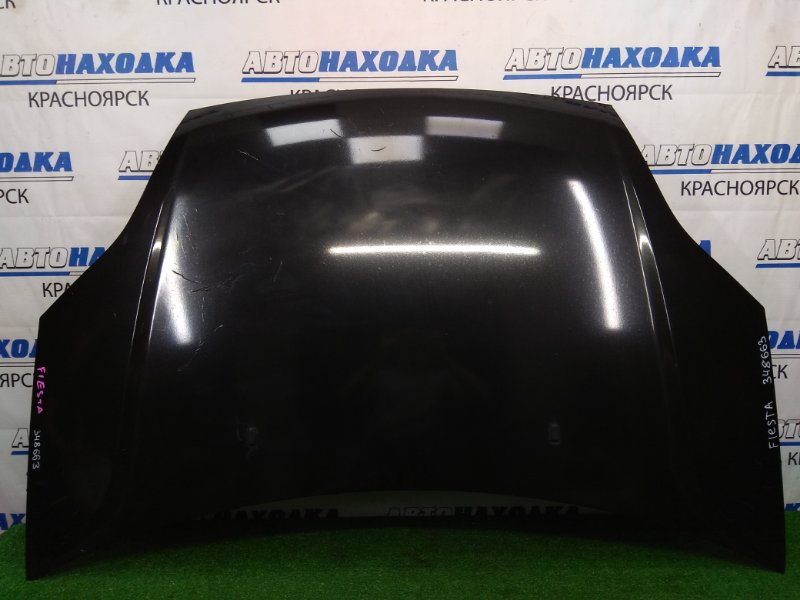 Капот Ford Fiesta CBK N4JB 2005 черный, пришел из японии обтянут пленкой, геометрия ОК,
