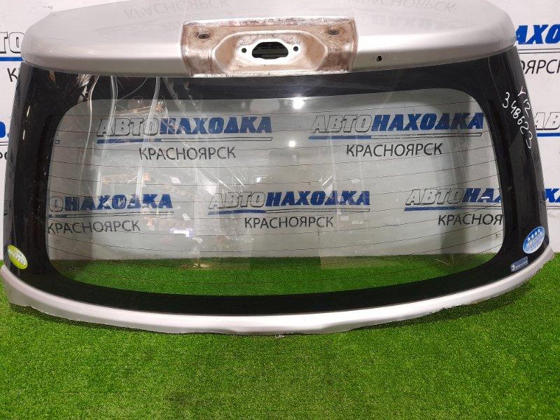 Стекло заднее Nissan Wingroad Y12 HR15DE 2005 заднее Заднее стекло с 5-й двери, выпилено по металлу.
