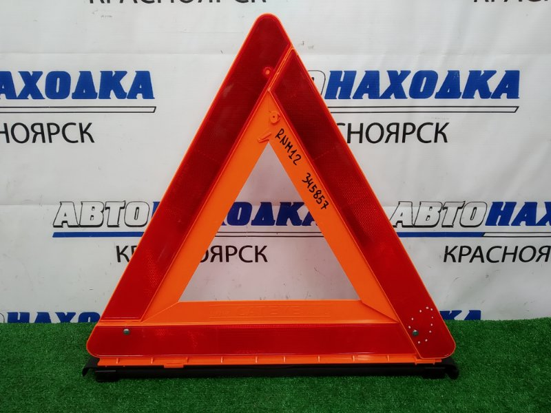 Знак аварийной остановки Nissan Liberty RNM12 QR20DE 1998 штатный знак аварийной остановки,