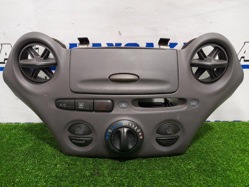 Климат-контроль Toyota Platz NCP12 1NZ-FE 1999 Дорестайлинг, электронный, с дефлекторами и