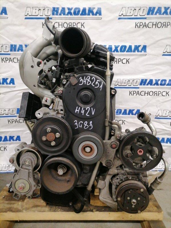 Двигатель Mitsubishi Minica H42V 3G83 2000 851060 № 851060 пробег 43 т.км. 2009 г.в. Есть видео работы ДВС.
