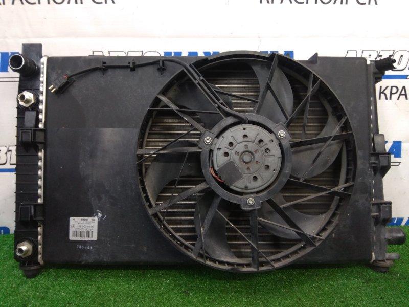 Радиатор двигателя Mercedes-Benz A160 W168.033 M166 E16 2001 A/T, с дифузором и вентилятором, пробег 48