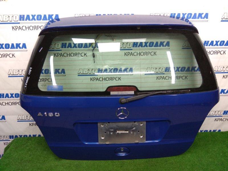 Дверь задняя Mercedes-Benz A160 W168.033 M166 E16 2001 задняя ХТС, в сборе, синяя (933U), 2 модель