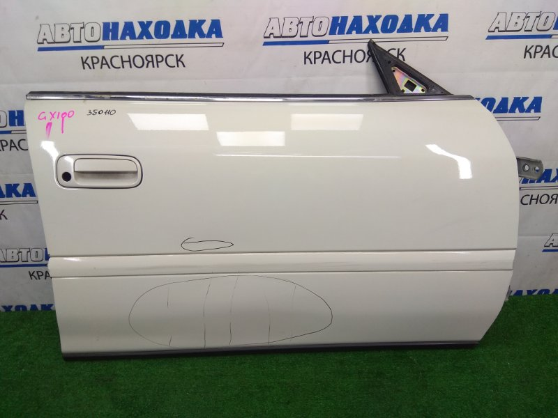 Дверь Toyota Chaser GX100 1G-FE 1996 передняя правая передняя правая, белый перламутр (057), без