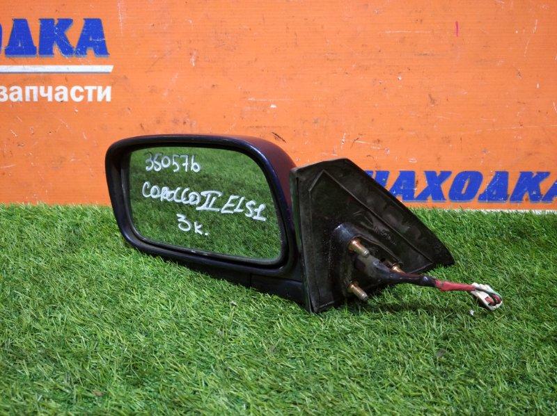 Зеркало Toyota Corolla Ii EL51 4E-FE 1994 левое 3 контакта под покраску